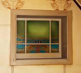 Hôtel Cohn-Donnay, Rue Royale 316, Saint-Josse-ten-Noode, vitrail dans la cage d'escalier ( © APEB, photo 2013)