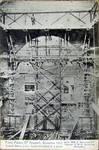 Pathé Palace, Boulevard Anspach 85, Bruxelles, carte postale des travaux, archives familiales Hamesse