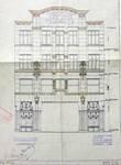 Pathé Palace, Boulevard Anspach 85, Bruxelles, élévation de la façade rue Jules Van Praet, AVB/TP 25458 (1913)
