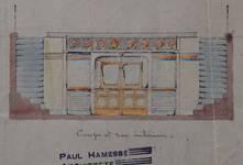 Lavatory souterrain, place Fontainas, Bruxelles, avant-projet, coupe et vue intérieure, AVB/TP 6 (1907)