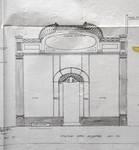 Magasin Cecil Shoe, Rue Neuve 49, Bruxelles, élévation de la vitrine, AVB/TP 1698 (1912)