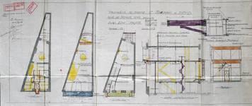 Harker's Sports, Rue de Namur 62-62A, Bruxelles, plan des niveaux et coupe, AVB/TP 17551