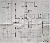 Rue Neuve 48-50, Bruxelles, transformation des bureaux de la S.A. Générale Belgo-Cinéma, plan des niveaux et coupe, AVB/TP 26770 (1921)