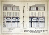 Canada Furs, Rue Neuve 80, Bruxelles, projet de transformation des façades, élévations des façades (© Fondation CIVA Stichting/AAM, Brussels /Paul Hamesse)