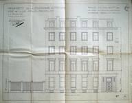 Cie d'assurance Vie Utrecht, Rue de la Loi 13-15, Bruxelles, projet de transformation en collaboration avec Michel Polak, élévation façade rue de la Loi, AVB/TP 33739 (1936)