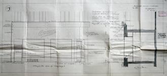 Etam, Rue des Fripiers 1, Bruxelles, projet de transformation, élévation de la vitrine et coupe, AVB TP 34 854 (1929)