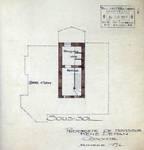 Coxyde, projet de construction de villa, plan du sous-sol, archives familiales Hamesse