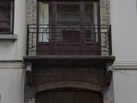 Rue Albert de Latour 7, Schaerbeek, balcon, premier étage ( © APEB, photo 2012)