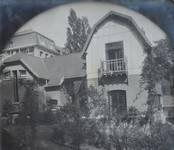 Rue Vergote 34, Woluwe-Saint-Lambert, vue du corps principal et de l'atelier d'artiste ( © SPRB-BDU, photo 2011)
