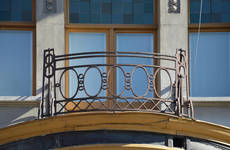 Avenue de la Jonction 14, Saint-Gilles, balcon (© APEB, photo 2017)