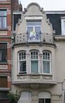 Rue Emmanuel Van Driessche 40-42, Ixelles, bow-window et balcon (© APEB, photo 2017)
