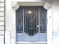 Rue de l'Abbaye 75, Ixelles, porte d'entrée (© CM, photo 2017)