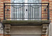 Avenue Oscar Van Goidtsnoven 60, Forest, balcon du premier étage (© CM, photo 2015)