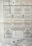 Pathé Palace, Boulevard Anspach 85, Bruxelles, projet non retenu de la façade rue Jules Van Praet, AVB/TP 25458 (1913)