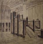 Pathé Palace, Boulevard Anspach 85, Bruxelles, dessin du hall d'entrée boulevard Anspach, archives familiales Hamesse