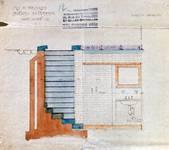Lavatory souterrain, place Fontainas, Bruxelles, coupe, AVB/TP 6 (1907)