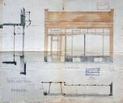 English Shop, Rue du Marché aux Herbes 15, Bruxelles, élévation et plan de la vitrine, AVB/TP 3016 (1905)