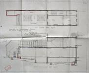 Magasin Cecil Shoe, Rue Neuve 49, Bruxelles, coupe et plan du premier étage, AVB/TP 1698 (1912)