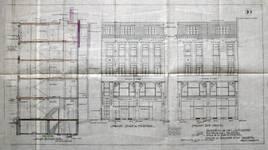 Canada Furs, Rue Neuve 80, Bruxelles, coupe et élévation des façades, AVB/TP 31933 (1923)