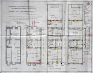 Blampoix, Boulevard du Régent 9, Bruxelles, projet de transformation, plan des niveaux, AVB/TP 32001 (1924)