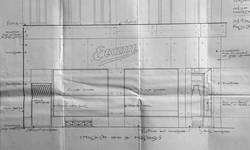 Etam, Rue des Fripiers 1, Bruxelles, projet de transformation, détail de la vitrine, AVB TP 34 854 (1929)