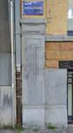 Avenue Brugmann 211, Ixelles, base du pilastre de gauche (© CM, photo 2017)