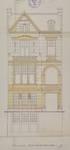 Rue Meyerbeer 19, Forest, élévation de la façade principale, ACF/Urb. 4945 (1909)