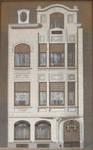 Rue Franz Merjay 197, Ixelles, élévation de la façade principale, archives familiales Hamesse