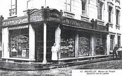 Rue de Laeken 55-57, Bruxelles, carte postale ancienne, collection particulière