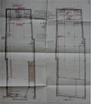 À la Mort Subite, Rue Montagne aux Herbes Potagères 5-7, Bruxelles, plan des niveaux après transformation, AVB/TP 5881 (1910)