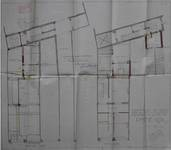 Magasin Pathé Kok, Boulevard Adolphe Max 146-148, Bruxelles, plan des niveaux en liaison avec le Théâtre Pathé voisin, AVB/TP 18147 (1912)