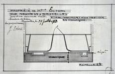 Magasin Cecil Shoe, Rue Neuve 49, Bruxelles, plan de la mosaïque, AVB/TP 75850 (1912)