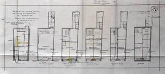 Vinche, Rue du Marché aux Herbes 4, Bruxelles, projet de transformation, plan des niveaux, AVB/TP 31826 (1925)