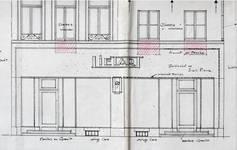 Liétart, Rue Neuve 63-63a-67, Bruxelles, projet de transformation, élévation des façades avant, AVB/TP 32530 (1926)