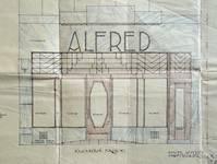 Alfred, Rue Neuve 39, Bruxelles, élévation de la devanture, AVB/TP 35469 (1928)