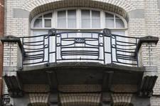 Rue Champ du Roi 104, Etterbeek, premier étage, balcon (© APEB, photo 2017)