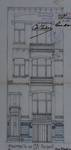 Rue Albert de Latour 7, Schaerbeek, élévation de la façade avant, ACS/Urb. 8-7 (1903)