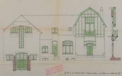 Rue Vergote 34, Woluwe-Saint-Lambert, élévation, ACWSL/Urb. 1414 (1904)