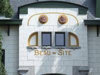 Villa Beau-Site, Avenue des Combattants 14, Genval, fronton (© CM, photo 2013)