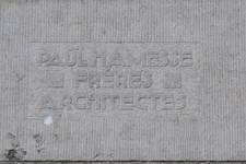 Avenue des Klauwaerts 37-37a-38 | Avenue Géo Bernier, Ixelles, signature (© APEB, photo 2017)