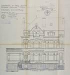 Avenue Molière 119-121, Forest, élévation principale, ACF/Urb. 5209 (1910)