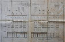 Rue de Laeken 55-57, Bruxelles, élévation des façades, AVB/TP 44 (1910)