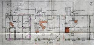 Canada Furs, Rue Neuve 80, Bruxelles, projet de transformation, plan des niveaux, AVB/TP 31933 (1923)