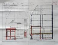 Michiels, Rue Haute 195-199, Bruxelles, projet de transformation du 195, coupe et élévation de la façade rue des Capucins, AVB/TP 34143 (1927)
