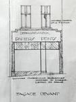 Papiers peints Debruyne-Vleck, Rue Saint-Jean 41, Bruxelles, élévation de la vitrine, AVB/TP 35910 (1928)