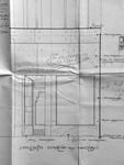 Etam, Rue des Fripiers 1, Bruxelles, projet de transformation, détail de la vitrine rue du Marché aux Herbes, AVB TP 34 854 (1929)