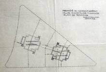 Koninklijke Baan 239-241, Koksijde, terreingrondplan (© Fondation CIVA Stichting/AAM, Brussels /Paul Hamesse)