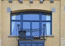 Avenue Brugmann 211, Ixelles, deuxième étage, balcon (© CM, photo 2017)