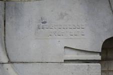 Rue des Mélèzes 76, Ixelles, signature (© APEB, photo 2017)
