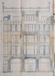 Albert Ameke, Place Fontainas 9-15, Bruxelles, élévation de la façade place Fontainas, AVB/TP 943 (1904)
